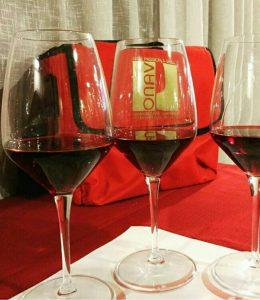 valigetta onav che contiene i calici di vino