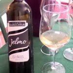 bottiglia di vino moscato giallo secco di tenuta gambalonga