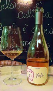 bottiglia di vino rosato Vale