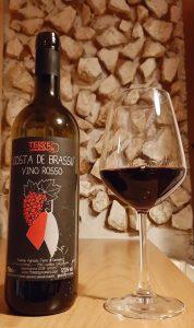 bottiglia di vino rosso Terre di Levanto