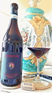 calice di rosso Barbera Bongioanni Wine
